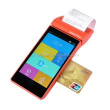 digital wallets pos / Handheld android POS with thermal printer EMV and PCI certification