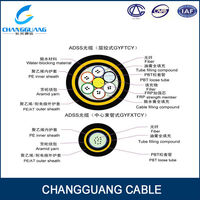 Aerial duct underground cable fibra optica monomodo g.655 g.657 g.652 outdoor fiber optic cable