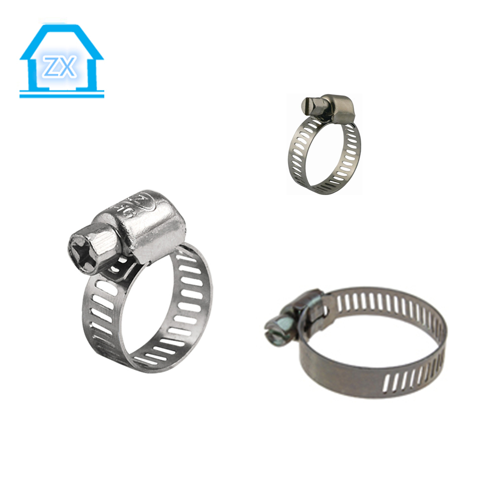 Zhaoxiang hose clamp for rubber tubes and Worm Drive Hose Clips