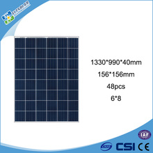 Manufacturers in China 48 cell 156x156 Polycrystalline silicon PV Solar module 195 watt