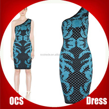 Western Party Wear Bodycon Bandage Dress 90% Rayon baju kurung