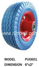 PU foam small rubber wheel