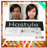 Top quality Cross linked gel hyaluronic acid filler 100-150 KDalton sudium hyaluronic acid row material product
