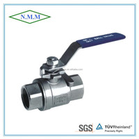 Stainless Steel 2PC Ball Valve, Full Bore, Threaded end, 1000PSI WOG, DIN, PN63