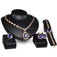 Fashion Top Jewelry Set Rose Gold Plated Austrian Crystal Earring/Necklace/Ring /bracelet Wholesale NSJS-00032