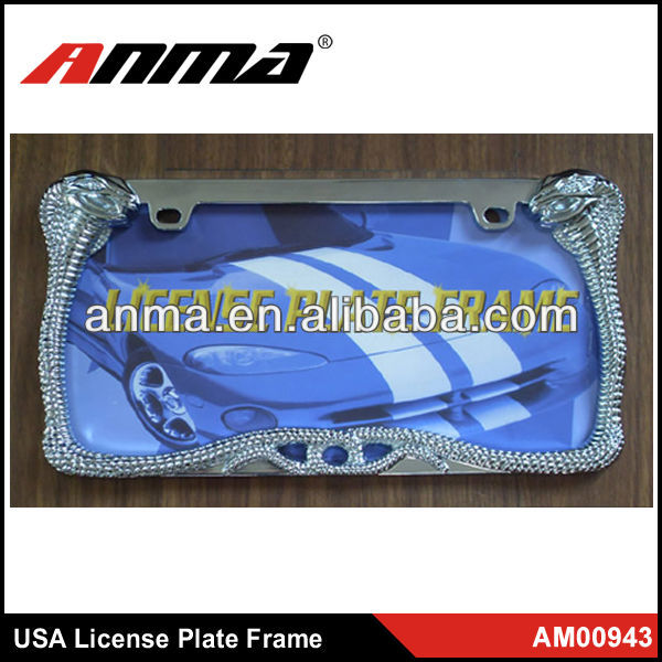 USA decorative Zinc material car license plater frame