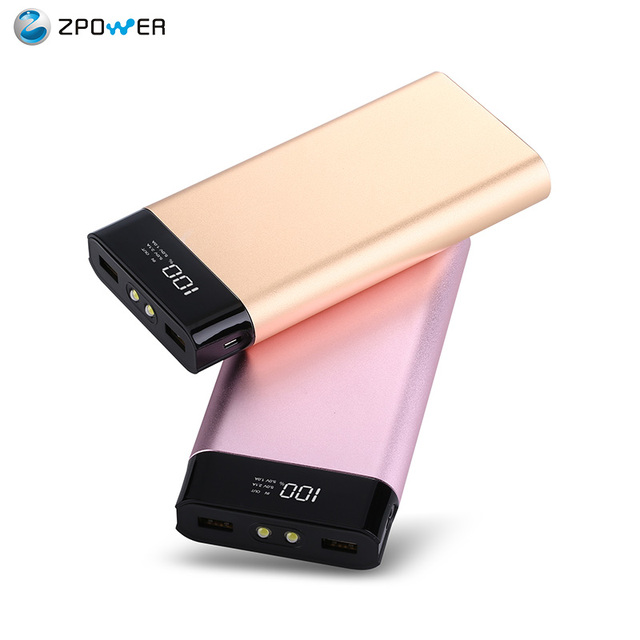 Super slim metal case disposable phone charger USB lithium polymer rechargeable battery portable power bank 20000mah for philips
