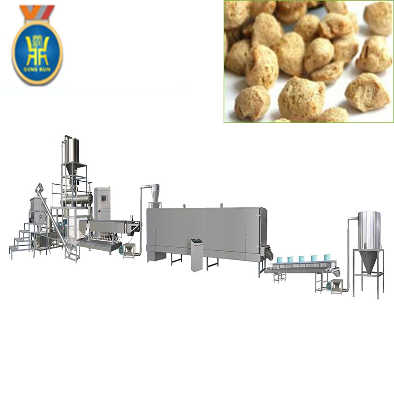 soybean protein food extruder protein bar processing line