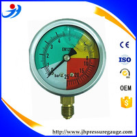 63mm glycerin or silicone oil filled bar pressure gauge