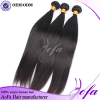 7A grade high quality 100% real human hair extensions unprocessed virgin peruvian straight hair