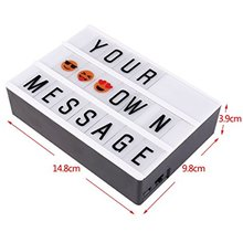 A6 size replaceable letters & emojis advertising lighting box with strong magnetic