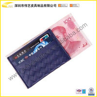Hot Selling Style PU/Genuine Leather Wallet/Credit Gift Card Purse, Pouch, Card Holder,Customized NameCard Business Card Case
