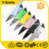 Factory price satinless steel pocket survival card knife
