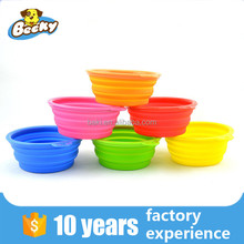 2016 New personalized Collapsible silicone dog bowl Outdoor Travel Folding Bowl