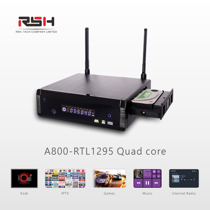 2016 New Product Realtek RTD1295 Sata 3.0 HDD Player with Android Apps Support 4k Decode 8TB Hard Disk USB 3.0