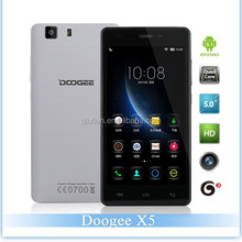 "Original Doogee X5 Cheap Mobile Phone Android 5.1 Cell Phone 1GB RAM 8GB ROM 5.0"" HD 1280*720 IPS 5.0MP 2400mAh Dual SIM WCDMA"