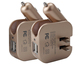 New 2 in 1 5v 2a portable travel power fast mobile phone usb charger 12v dual usb car charger