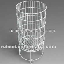 Round Floor Standing Wire Dump Bin Display