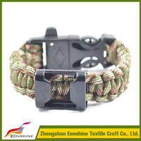 2015 New Designs Beer Bottle Opener 550 Paracord Bracelet With Compass Fire Starter Whistle Buckle