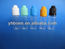 10ml PET plastic eye dropper bottle with child-proof cap, childproof cap dropper bottle( for e-liquid)