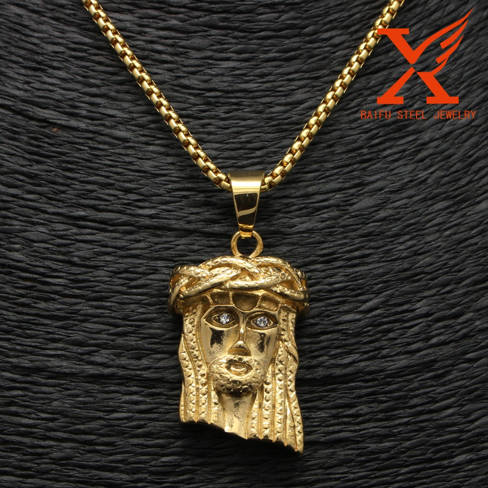 2016 Wholesale Jewelry Pendants For Engraving Wire Wrapped Pendants Friendship Gold Jesus Face Pendant