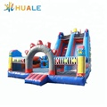 Inflatable robot theme dry slide cartoon inflatable slide for kids