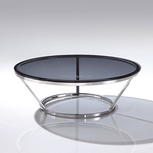 Modern coffee table bases for round glass tops
