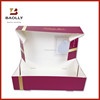 Folding wedding paper cake box design with clear plastic window