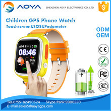 Touchscreen HD gps running watch for kid child tracker watch with pedometer