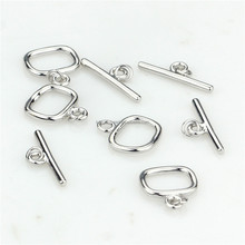 SNH 100% 925 sterling silver toggle clasp stainless steel clasp