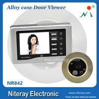 Super wide angle peephole door viewer with motion sensor