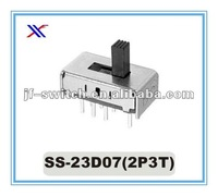 8 pin mini 2p3t slide switch SS-23D07(2P3T)