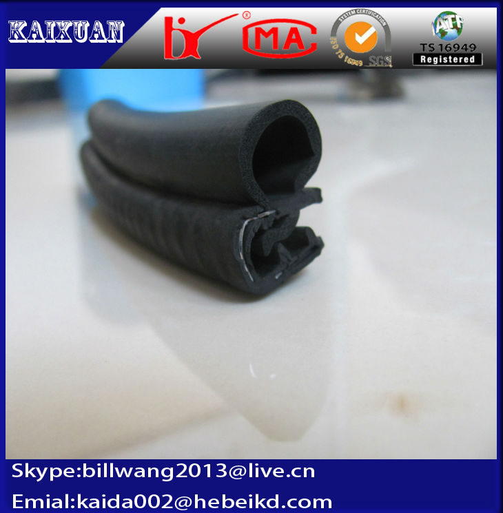 epdm extrusion waterproof car door rubber seals protective strips with your design