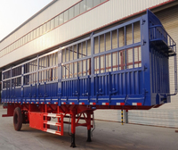 LU CHI 11m tri-axle light stake semi trailer