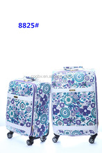 Chinese good quality luggage,colorful PU trolley case