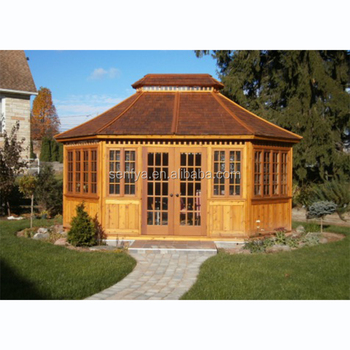 Customized easily assembly high quality prefab wooden gazebo