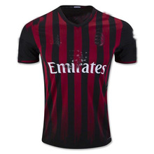 Manufacturer wholesale thai quality blank 2017/2018 AC milan jersey soccer jersey football jersey shirt uniforms