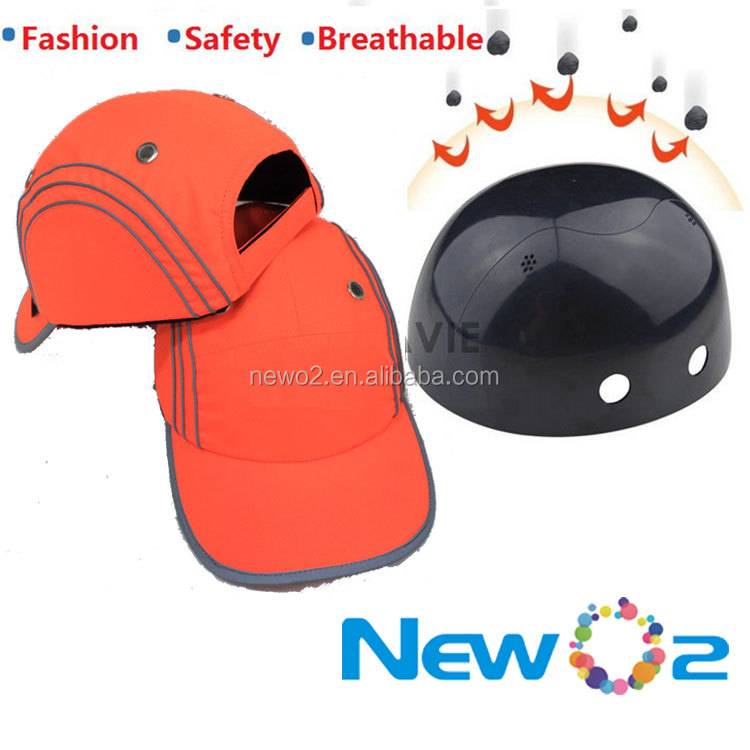 safety helmet with baseball caps, fashion design bump caps for safety