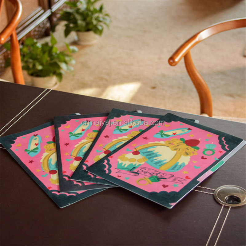 PP File folder / file folders with plastic inserts / A4 decorative file folders with 5 dividers