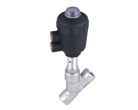 Angle seat valve stainless steel angle seat valves 1 1/2'' pneumatic control valve