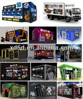 Game machine hydraulic motion 5D Cinema/5d cinema accessories/5d cinema equipment with 6 seats,8seats,9seats,12 seats