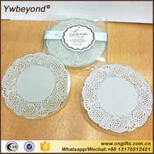 Ywbeyond 2017 fashion glass round coaster set wedding favours glass set for guests coast style