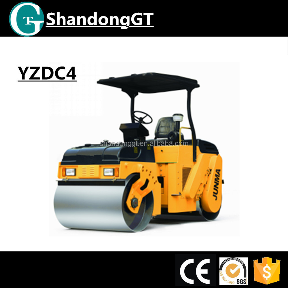 JUNMA 4TON small sakai used pedestrian vibratory road roller for sale