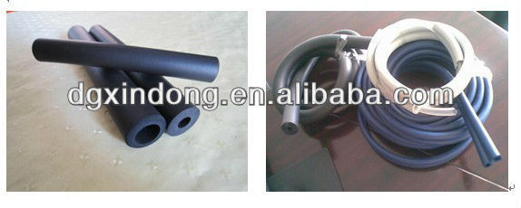 Black/gray EPDM rubber foam material tubing product