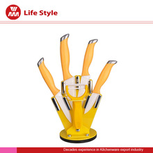 kitchen ceramic knife set with Acrylic stand