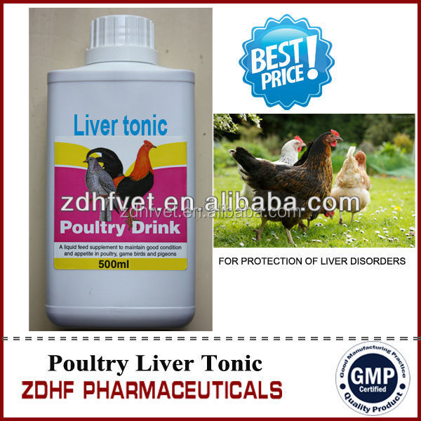 Poultry liver tonic with herbal oral solution Veterinary medicine