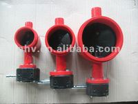 worm gear operated grooved end butterfly valve