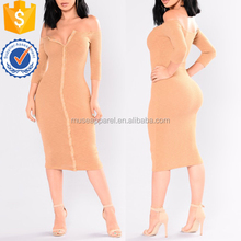 Ribbed Off The Shoulder Dress OEM/ODM Women Apparel Clothing Garment Wholesaler Ropa Mujer