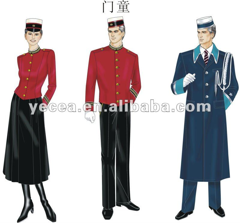 HOT selled smart design restaurant/hotel door man uniform (OEM)
