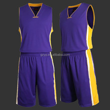 Wholesale custom digital sublimation printing reversible jersey basketball design
